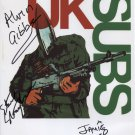 "UK U.K. Subs FULLY SIGNED 8"" x 10"" Photo + Certificate Of Authentication 100% Genuine"