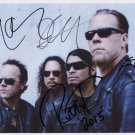 "Metallica FULLY SIGNED 8"" x 10"" Photo + Certificate Of Authentication  100% Genuine"