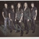 """Queensryche (Band) FULLY SIGNED 8"""" x 10"""" Photo + Certificate Of Authentication 100% Genuine"""