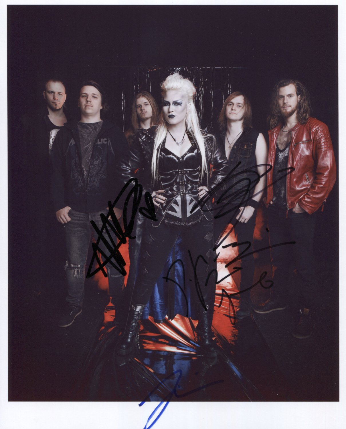 "Battle Beast (Band) FULLY SIGNED 8"" x 10"" Photo + Certificate Of Authentication 100% Genuine"