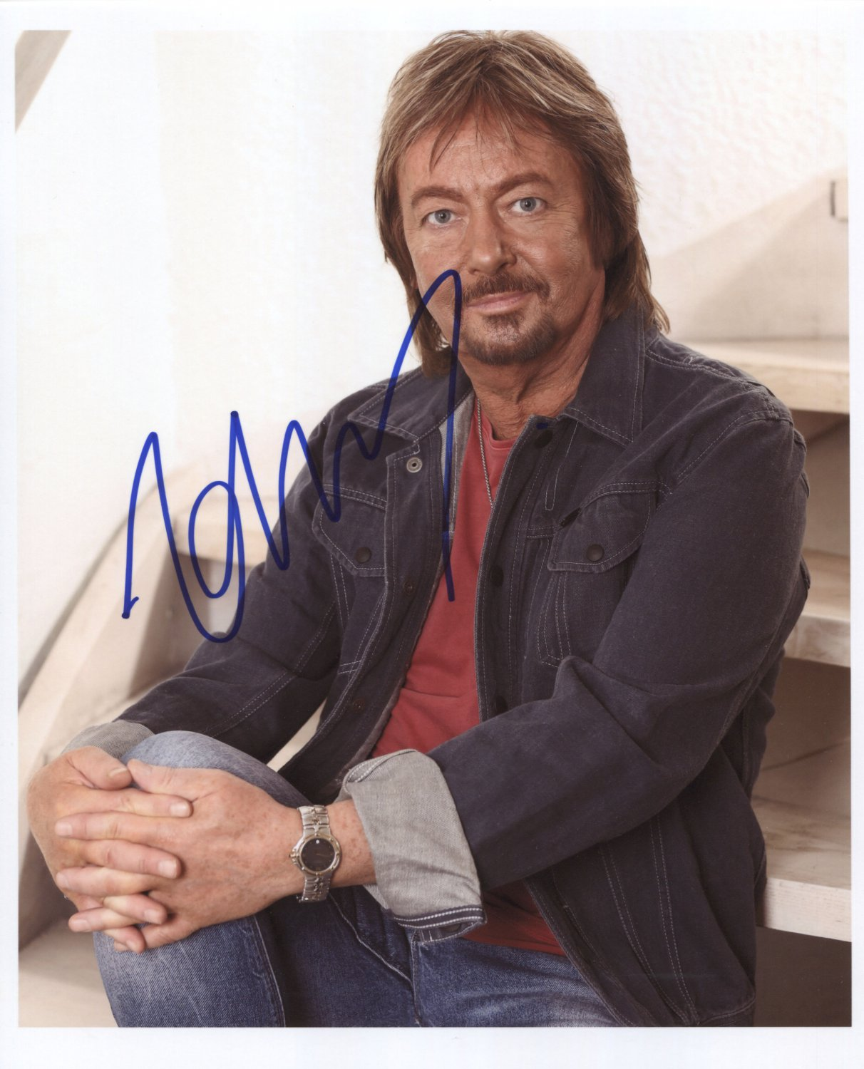 """Chris Norman Smokie SIGNED 8"""" x 10"""" Photo + Certificate Of Authentication  100% Genuine Photo Proof"""