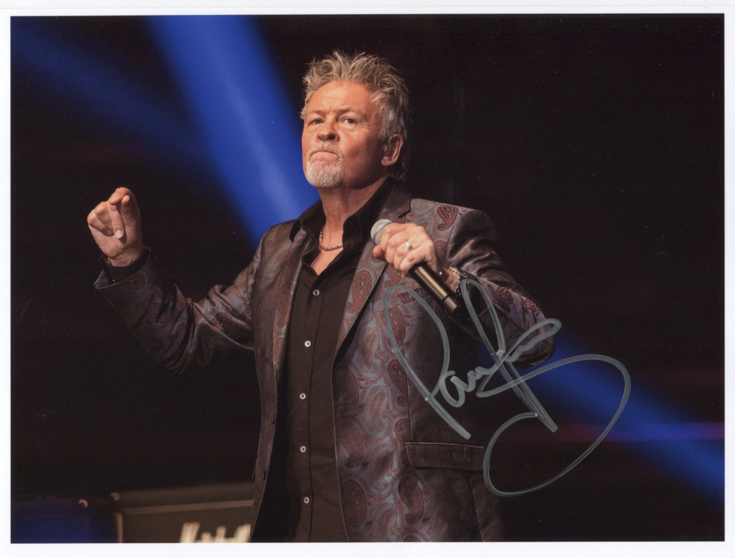 """Paul Young (Singer) SIGNED 8"""" x 10"""" Photo + Certificate Of Authentication  100% Genuine Photo Proof"""