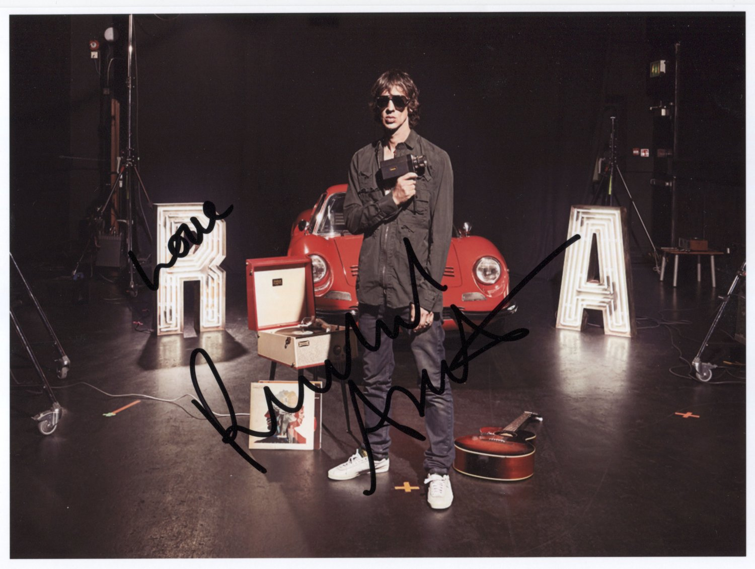 """Richard Ashcroft SIGNED 8"""" x 10"""" Photo + Certificate Of Authentication  100% Genuine Photo Proof"""