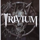 "Trivium (Band) FULLY SIGNED 8"" x 10"" Photo + Certificate Of Authentication  100% Genuine"