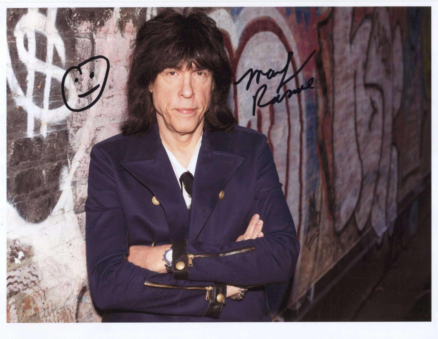 Marky Ramone (The Ramones) SIGNED Photo + Certificate Of Authentication  100% Genuine