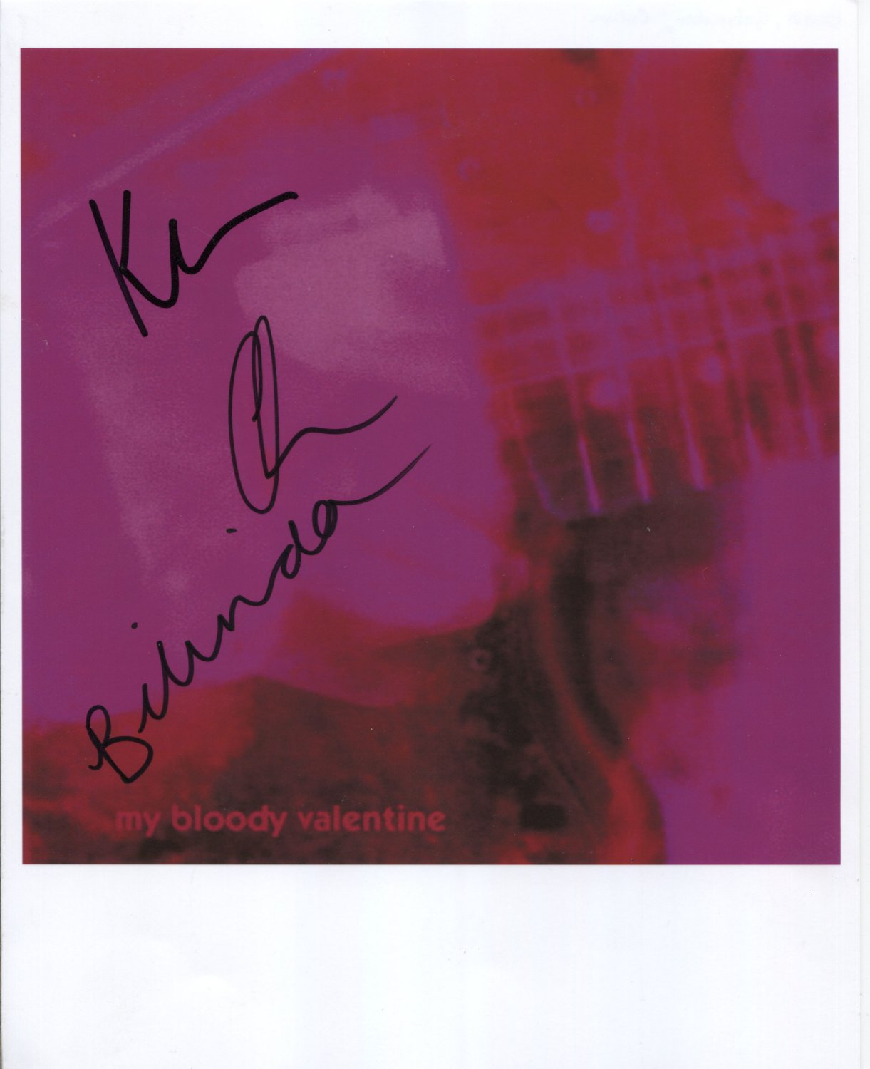 My Bloody Valentine SIGNED Photo + Certificate Of Authentication  100% Genuine