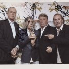 """Status Quo FULLY SIGNED 8"""" x 10"""" Photo + Certificate Of Authentication  100% Genuine"""