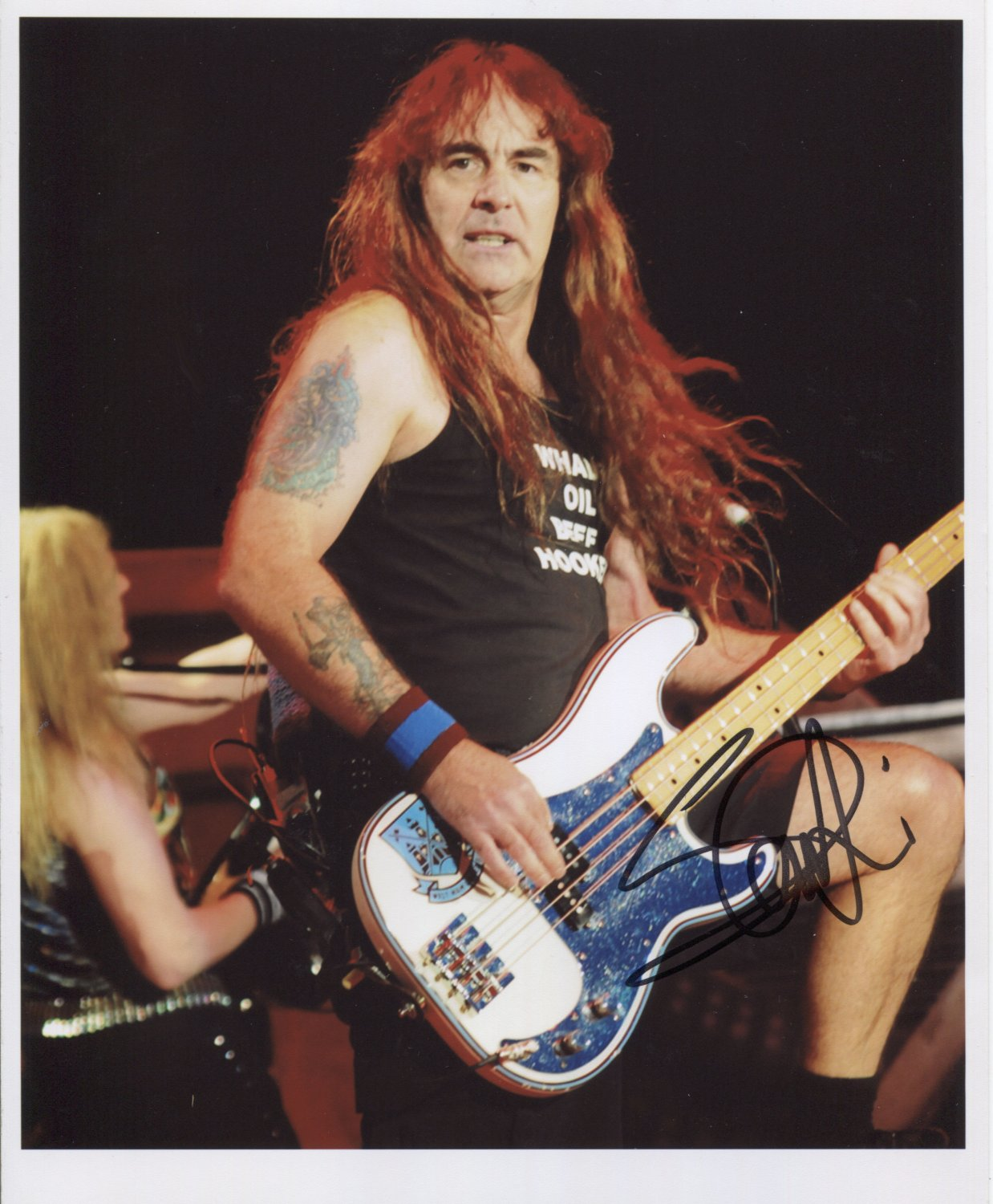 "Iron Maiden Steve Harris SIGNED 8"" x 10"" Photo + Certificate Of Authentication  100% Genuine"