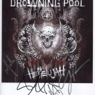 "Drowning Pool (Band) FULLY SIGNED 8"" x 10"" Photo + Certificate Of Authentication  100% Genuine"