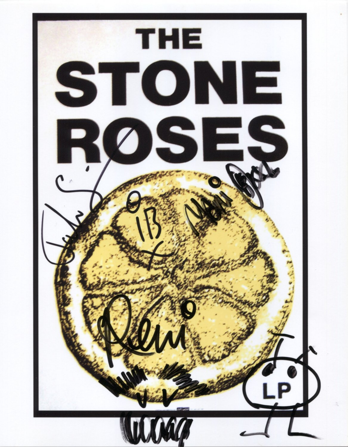 "The Stone Roses FULLY SIGNED 8"" x 10"" Photo + Certificate Of Authentication  100% Genuine"