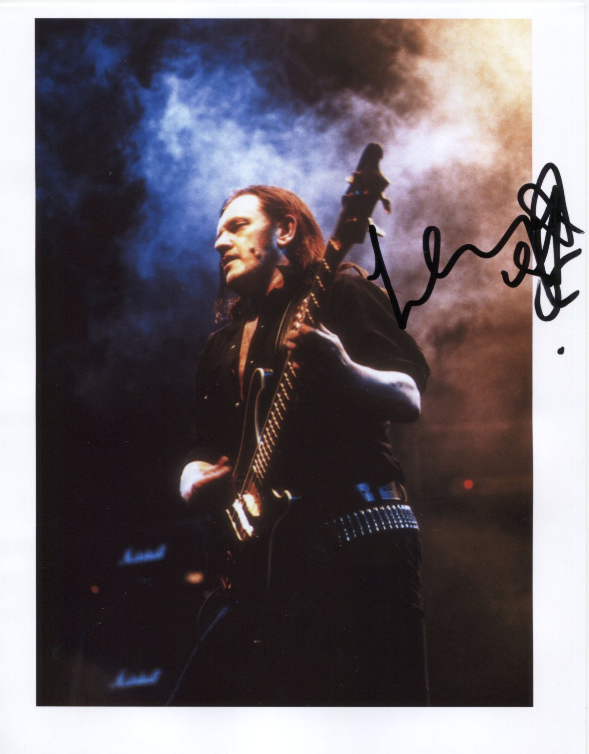 """Lemmy Motorhead SIGNED 8"""" x 10"""" Photo + Certificate Of Authentication 100% Genuine"""