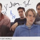 """Jimmy Eat World FULLY SIGNED 8"""" x 10"""" Photo + Certificate Of Authentication  100% Genuine"""