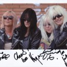 """Girlschool (Band) FULLY SIGNED 8"""" x 10"""" Photo + Certiificate Of Authentication 100% Genuine"""