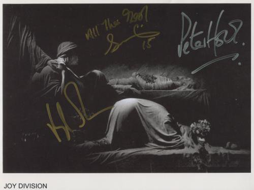 """Joy Division (Band) SIGNED 8"""" x 10"""" Photo + Certificate Of Authentication  100% Genuine"""