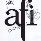 "AFI Davey Havok FULLY SIGNED 8"" x 10"" Photo + Certificate Of Authentication  100% Genuine"