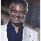 Andrea Bocelli SIGNED Photo + Certificate Of Authentication 100% Genuine