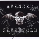 """Avenged Sevenfold FULLY SIGNED 8"""" x 10"""" Photo + Certificate Of Authentication 100% Genuine"""