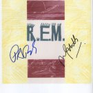 R.E.M. (Band) Mike Mills Peter Buck  SIGNED Photo Certificate Of Authentication 100% Genuine