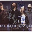 """Black Eyed Peas FULLY SIGNED 8"""" x 10"""" Photo + COA 100% Genuine"""