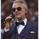 "Andrea Bocelli SIGNED 8"" x 10"" Photo Certificate Of Authentication 100% Genuine"
