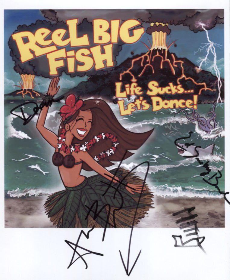 Reel Big Fish (Band) FULLY SIGNED Photo + Certificate Of Authentication 100% Genuine