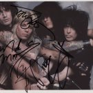 "Motley Crue FULLY SIGNED 8"" x 10"" Photo + Certificate Of Authentication  100% Genuine"