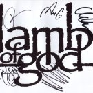 Lamb Of God (Band) SIGNED Photo 1st Generation PRINT Ltd 150 + Certificate / 4