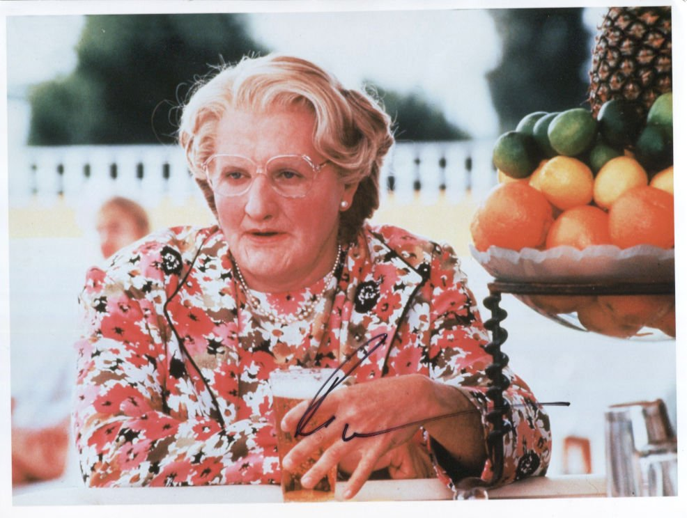 """Robin Williams (Actor) SIGNED 8"""" x 10"""" Photo + Certificate Of Authentication 100% Genuine"""