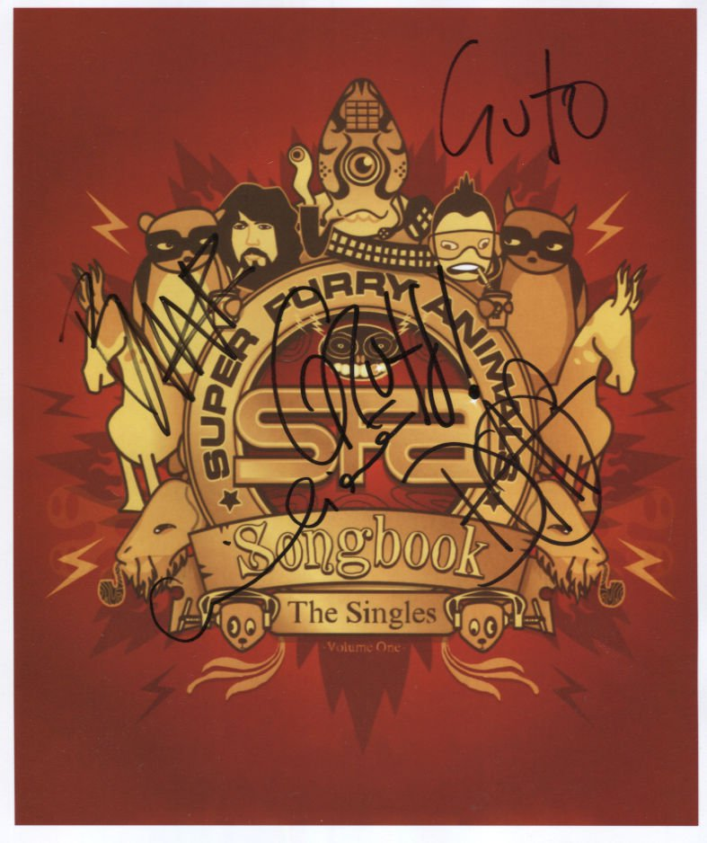 """Super Furry Animals  FULLY SIGNED 8"""" x 10"""" Photo + Certificate Of Authentication  100% Genuine"""