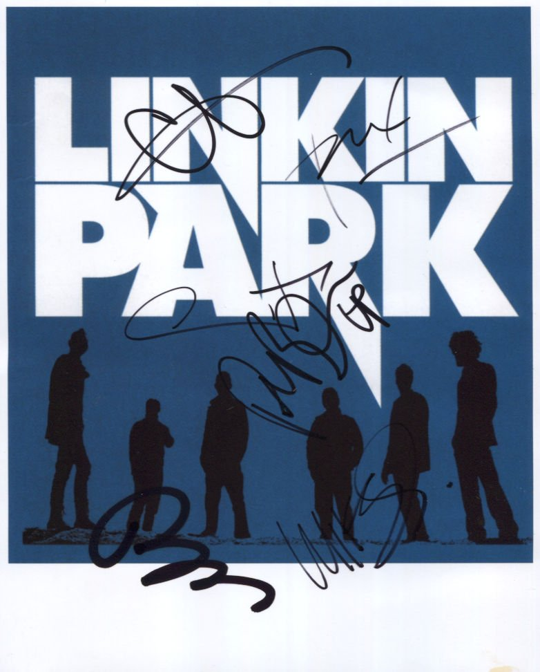 """Linkin Park Chester Bennington + 5 SIGNED 8"""" x 10"""" Photo Certificate Of Authentication  100% Genuine"""