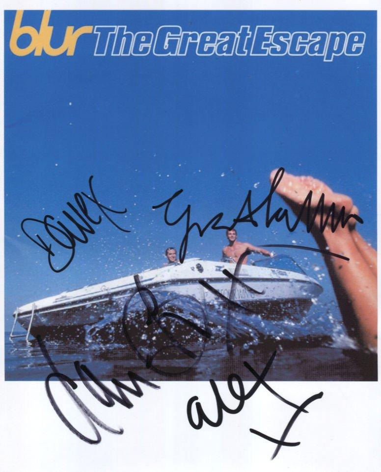 Blur (Band) Damon Albarn + 3 FULLY SIGNED Photo 1st Generation PRINT Ltd 150 + Certificate / 6