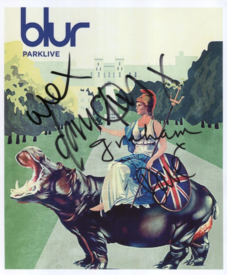 Blur (Band) Damon Albarn + 3 FULLY SIGNED Photo 1st Generation PRINT Ltd 150 + Certificate / 7
