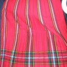 Size 10 *NEW* Plaid Knife Pleated Skirt Made in Scotland