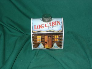 Log Cabin Tin ... MINT... Limited Edition.... 2004