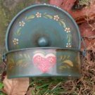 small Country Heart tin- Tole Painted - Hauser style