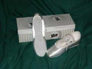 size 2 White Satin Ballet Slippers for Dance/Weddings/First Communion