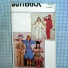 Halloween Costume Patterns Angel/Devil/Scarecrow/Indians Butterick 4073 LG
