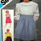 Child Sz 3 blouse and skirt USED Simplicity Pattern 6558