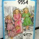 Child Size 5 Dress Pattern 1979 Simplicity 9354 Cindarella