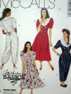 Misses' Sz 12 Dress and Jumpsuit USED McCall's Pattern 5273