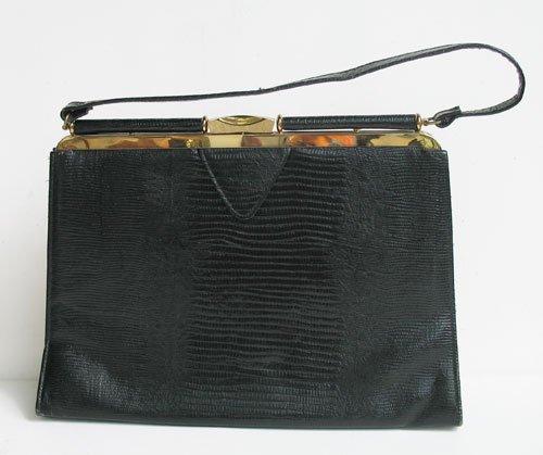 Large Classic Lizzard Vintage Handbag