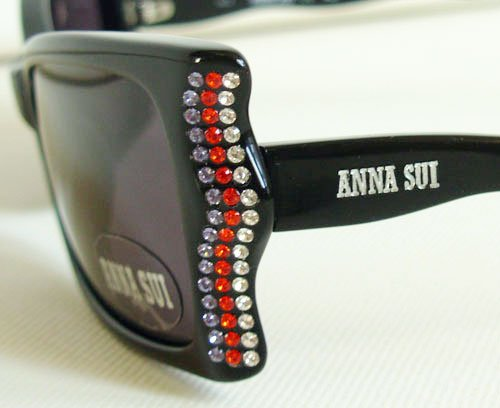Anna Sui Swarovski Crystal Cat Eyes Sunglasses AS602