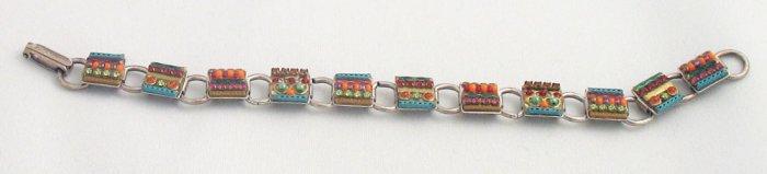Signed ADAYA Maya Rayten Micro Mosaic Bracelet