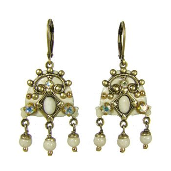 Michal Golan Earrings - River Stone & Swarovski Crystal