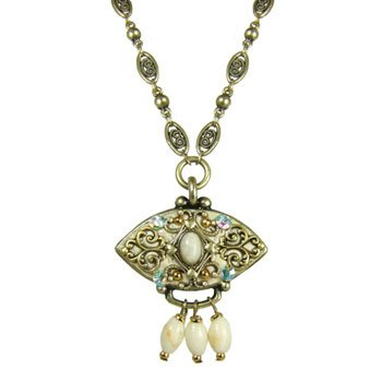 Michal Golan Necklace - River Stone & Swarovski Crystal