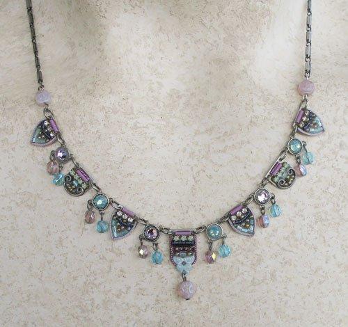 Signed ADAYA Maya Rayten Micro Mosaic Necklace