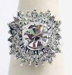 Cocktail Ring Swarovski Crystals 50'- 60's Repro Sz 7