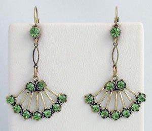 Georgian Style Earrings Swarovski Crystals Reproductio