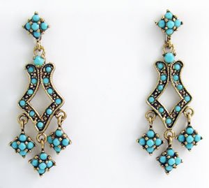 Deco Style Earrings Swarovski Crystals Reproduction