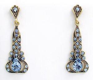 Edwardian Style Earrings Swarovski Crystals Reproductio